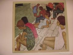Ifj.Czene Béla festőművész: Vízparton című festménye