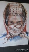 Idős hölgy arcképe