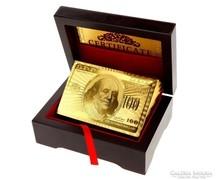 Akció!!! 24kt arany poker kártya kollekció + díszdoboz