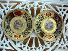 Altwien süteményes tányérok