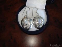 Szivárvány holdköves ezüst fülbevaló