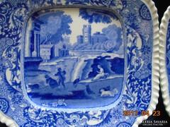 2 db Copeland-Spode kék mintás kis tányér-15x15cm-2