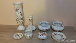 Gyönyörű pillangó mintás Zsolnay porcelán csomag!