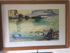 Koncz Zoltán akvarellkép 47 x 30cm