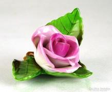 0K221 Régi Herendi porcelán rózsa