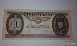 50 Forint 1975-ös A-UNC ritka évjáratú  bankjegy !