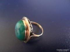 Eredeti türkiz köves art deco arany gyűrű
