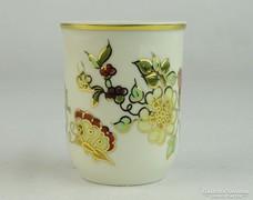0L488 Vajszínű pillangós Zsolnay porcelán pohár