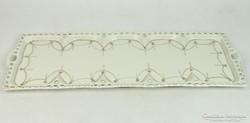 0L496 Régi nagyméretű porcelán kínáló tálca 49 cm