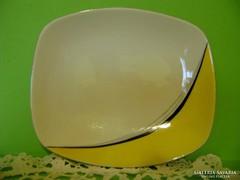 Hollóházi art deco, retró kináló tálka, asztalközép