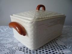 Virsli tároló porcelán edény