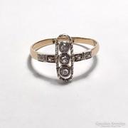 Antik 14K Arany Gyűrű Fehér Zafírral