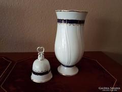 Hollóházi váza + csengő - együtt