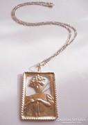 Ezüst nyaklánc szecessziós medállal