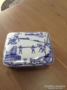 Régi norvég porcelán doboz