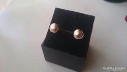 Arany 14 karátos gömb fülbevaló