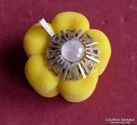 Rózsakvarc ezüst medál