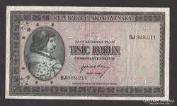 1000 korona 1945.  NAGYON SZÉP!