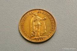 Ferenc József arany 10 korona 1909