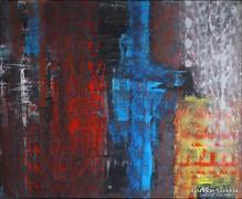 """"""" Cseppek"""" hatalmas Koso festmény"""