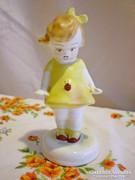 Bodrogkeresztúri katicás kislány kerámia figura