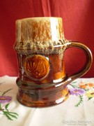 Zsolnay pirogránit sörös korsó