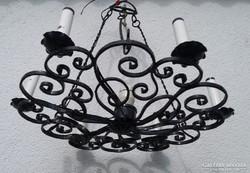 Kovácsoltvas csillár mennyezeti lámpa vas csillár 67cm