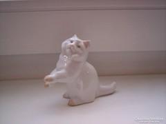 Régi, ritka Zsolnay macska