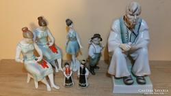 Zsolnay és hollóházi porcelán szobrok / figurák