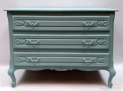 Barokk komód, kék Provence stílusban