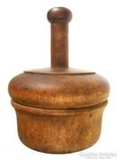 Régi tésztakiszúró, fa linzer nyomó cukrász szerszám