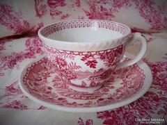 Jelzett Woods Burslem England angol jelenetes teás szett