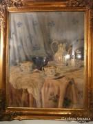 Gyönyörű antik festmény eladó blondel keretben 96*80 cm