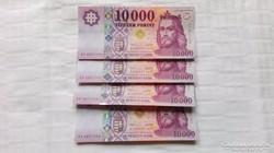 Új.2015 évi 10.000.-Ft-os bankjegy  4.db sorszámkövető