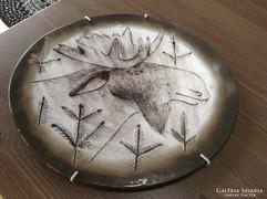 Régi finn porcelán fali tányér