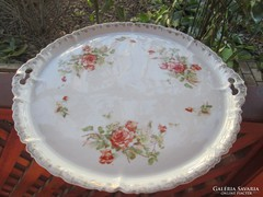 Antik szecessziós rózsás tortatál