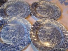 Angol csodaszép lapos tányér 4 darab