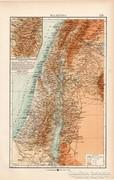 Palesztina térkép 1904, eredeti, K. u. K. Hofbuchhandlung