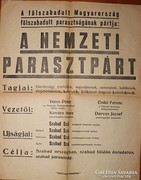 Politikai plakát 1945 Nemzeti Parasztpárt