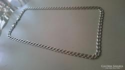 Ezüst nyaklánc, sima egyszerű fazonú. 69 cm.