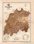 Árva megye térkép 1893, antik, eredeti