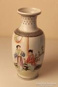 Keleti kézzel festett porcelán váza