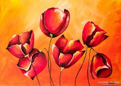 Tulipánok tánca  Festmény