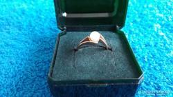Gyönyörű 14K női arany gyűrű igazgyönggyel!
