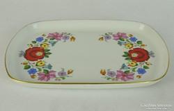 0L711 Kalocsai porcelán tál tálca 24 cm