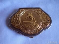 Aranyozott Ezüst különleges Púder tartó doboz