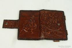 0L665 béri bőrdíszmű spanyol kártya tartó