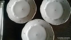 3 db Zsolnay arany tollazott barokk tányér