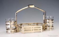 Ezüst art deco asztali kínáló