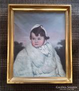 Lányka portré 1951-ből